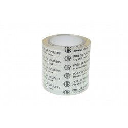 Wide width adhesive for 35mm film